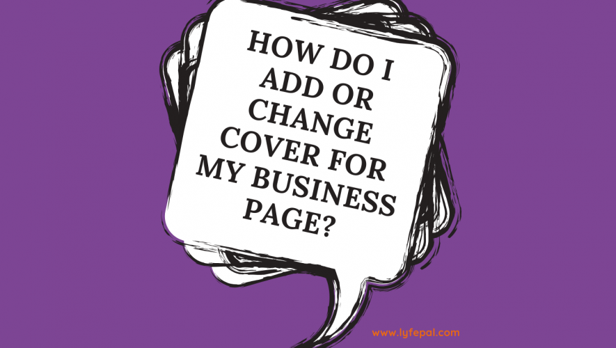 How do I add or change cover for my business page